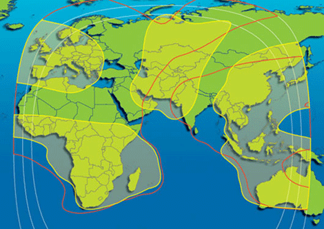 A global map of satellite footprints